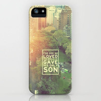 """John 3:16 """"For God so loved the world"""" (Version 2) iPhone Case by Pocket Fuel"""