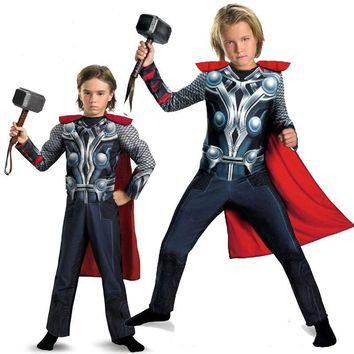 Children Thor Muscle Cosplay Costume Avengers Movie Boys 2-12 years old