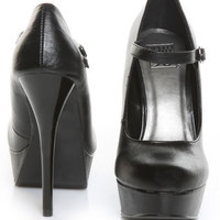 Speed Limit 98 Blake Black Strapped Platform Heels - $28.00