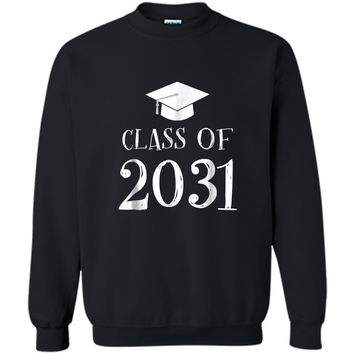 Class of 2031 Grow with me  - First Day of School  Printed Crewneck Pullover Sweatshirt