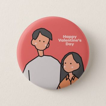 Love (Happy Valentine's Day) Button