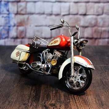 Large Scale Full-Iron Handmade Model Car - Classic Motorcycle Harley Davidson 1950s FL Series - 🏁🏍️🛵🏎️🛢️