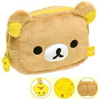 San-X Rilakkuma Plushy 5 1/2 Multi-Use Pouch: Relax Bear