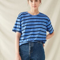 Urban Renewal Recycled Overdyed Striped Tee | Urban Outfitters
