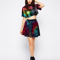 The Ragged Priest Checked Mini Skater Skirt Co-Ord