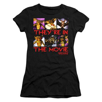 Gremlins 2 Juniors T-Shirt They're in the Movie Black Tee