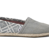 TOMS Denim Embroidered Women's Classics Blue