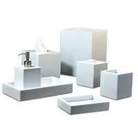 White Contours Bath Accessories by Mike + Ally