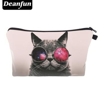 Deanfun Cosmetic Bags 3D Printed Cool Cat Storage Toiletry Travel Cute For Girls Gift 36958