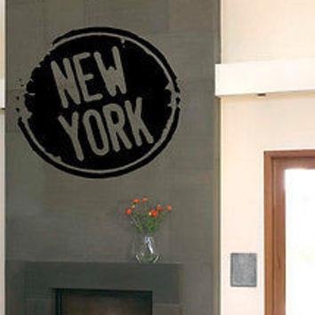 WALL VINYL STICKER DECAL MURAL I LOVE NEW YORK NY USA BIG APPLE LIBERTY C2