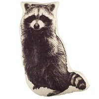 Camp Throw Pillow (Raccoon) in Throw Pillows | The Land of Nod
