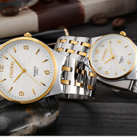 free drop shipping top luxury brand fashion designer women men wear casual quartz watch Stainless steel belt wristwatch