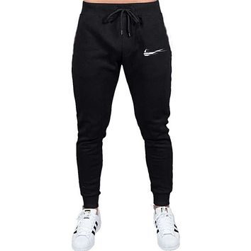 Brand Print logo Gyms Men Joggers Casual Men Sweatpants
