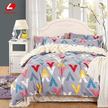 bedding set Summer style duvet cover twin Full Queen Nordic style bedding bed linen flat sheet flower bedclothes super king bed