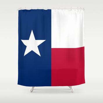 "The State flag of Texas - The ""Lone Star Flag"" of the ""Lone Star State"" Authentic Version Shower Curtain by LonestarDesigns2020 - Flags Designs +"