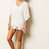 3/4 Sleeve Loose-fitting Lace Cover-up