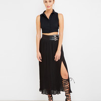 ULTERIOR MOTIVE SLIT MAXI SKIRT
