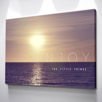 Enjoy the Little Things Canvas Set