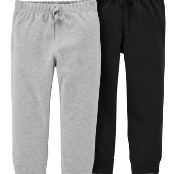 Toddler Boy French Terry Jogger Pants, 2-pack