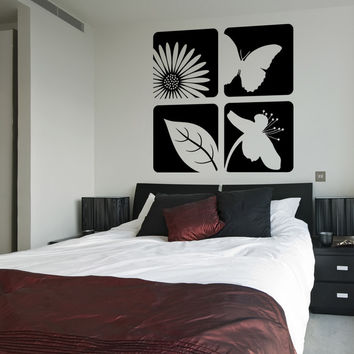 Vinyl Wall Decal Sticker Floral Designs #OS_ES112