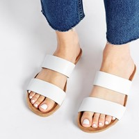 ASOS FENDALL Footbed Leather Sliders