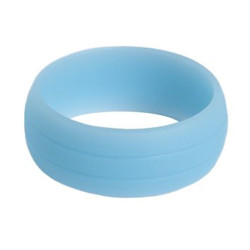 Strong Side Sports Silicone Wedding Ring for Athletic Active Men – Unique Double