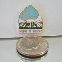 Erupting Mount St. Helens Pin Lapel Tie Tack Souvenir Volcano Jewelry Accessories Washington