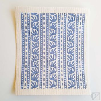 Swedish Dishcloth Batik Blue