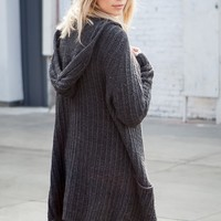LUDI HOODED CARDIGAN