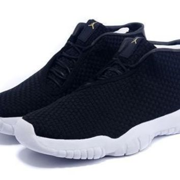 Hot Air Jordan Future Women Shoes Oreo Black White