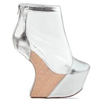 Jeffrey Campbell Moon Walk in Silver Clear at Solestruck.com