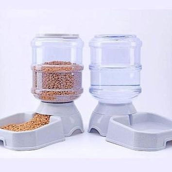 3.8L Pet Automatic Feeder Dog Cat Drinking Bowl Little bit of everything -,automatic cat feeder,automatic dog feeder