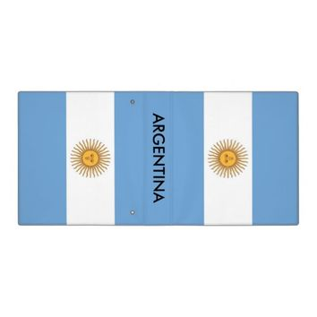Binder with Flag of Argentina