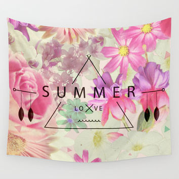 SUMMER LOVE Wall Tapestry by Nika