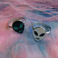 Alien Ring Set by imyourpresent on Etsy