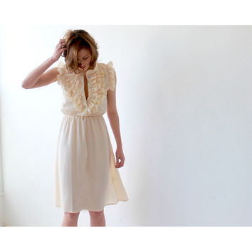 Pastel yellow short summer dress SALE