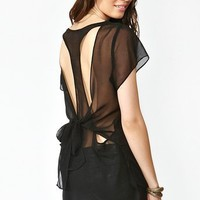 Tied Racerback Blouse