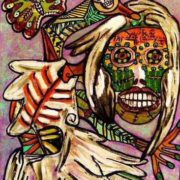Skeleton Dance of The Dead  SILBERZWEIG by SandraSilberzweigArt