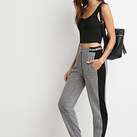 Marled Knit Striped Joggers