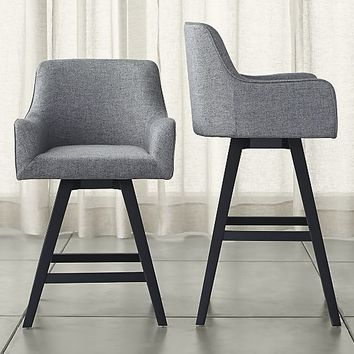 Incredible Harvey Swivel Bar Stools From Crate And Barrel Design Gmtry Best Dining Table And Chair Ideas Images Gmtryco