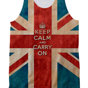 Keep Calm British Flag Tank Top Full Print