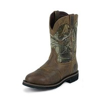 Justin WK4675 Rugged Tan Cowhide Waterproof Camo Men's Boots