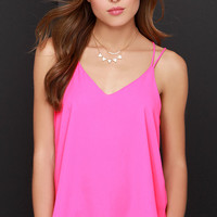 Fly By Birdie Hot Pink Tank Top