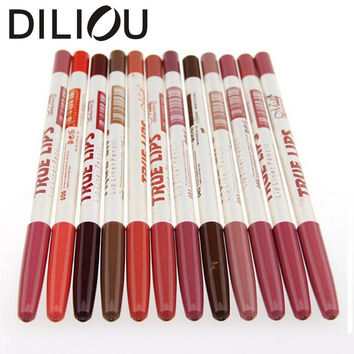 12pcs/lot 15CM 12Colors/Set Waterproof Lip Liner Pencil Women's Professional Long Lasting Lipliner Lips Makeup Tools