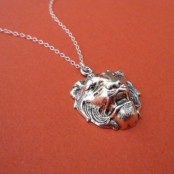 little lion necklace in silver