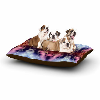 "Pia Schneider ""Abstract Floral"" Nature Blue Dog Bed"