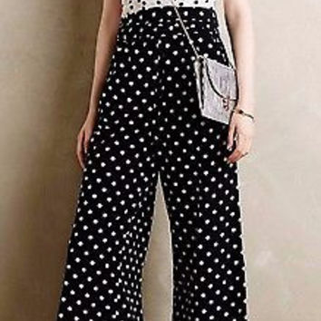 Anthropologie Domino Dot Jumpsuit by WHIT TWO - NWT