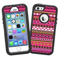 "Pink Geometric Tribal ""Protective Decal Skin"" for OtterBox Defender iPhone 5s Case"