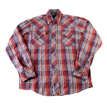 Vintage 1980s 80s Miller Stockman Western Pearl Snap Red Button Up Shirt Mens Workwear Size Medium