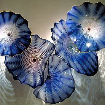 Art Decoration Dale Chihully Style Hand Blown Murano Glass Flower Shape - Free Shipping
